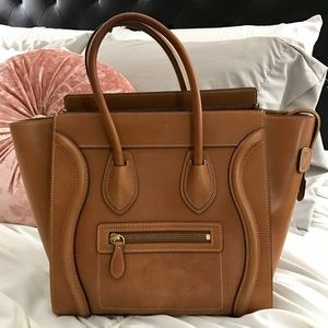 Céline Micro Luggage Tan